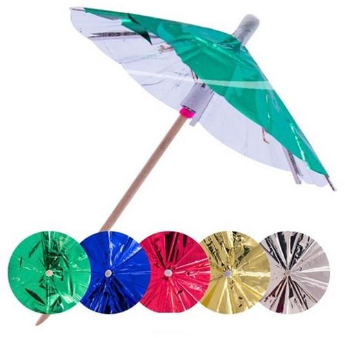Parasol Prikkers Metallic 15st. 10cm