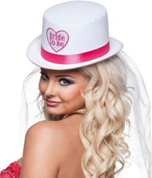 Hoge Hoed Bride to Be + sluier
