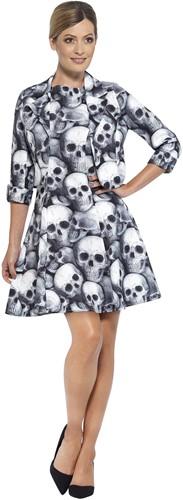 Dameskostuum Skeleton Skulls (2dlg.)