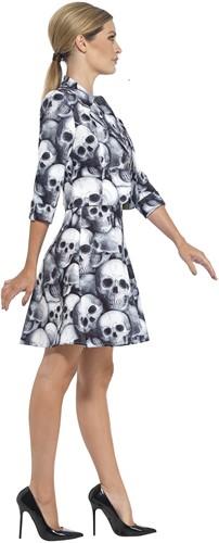 Dameskostuum Skeleton Skulls (2dlg.)-3