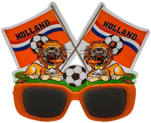 Bril Click-On Vlaggen Hollandse Leeuw Oranje-2