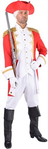 Herenkostuum Garde Officier Rood-Wit