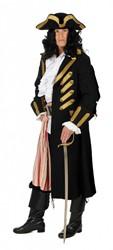 Heren Piratenjas de Luxe Zwart