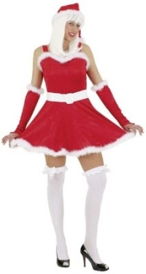Dameskostuum Santa Girl Rood