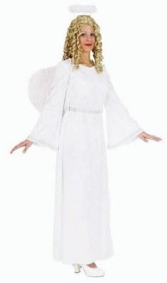 Dameskostuum Engel Wit-Zilver excl. Vleugels
