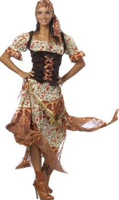 Damesjurk Zigeunerin Bruin Luxe