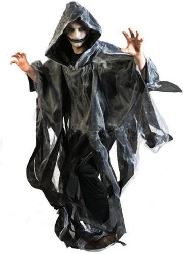 Halloween Cape Stroken Grijs