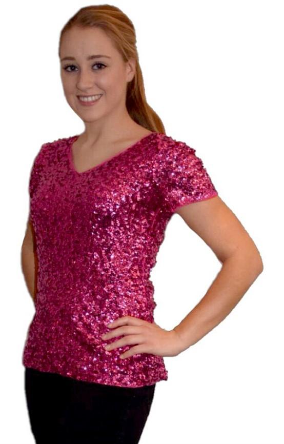 fea85c22b9fd6d Pailletten Shirt Pink voor dames