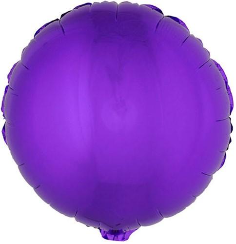 Folieballon Rond Metallic Paars (56x46cm)