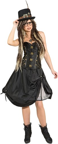 Hoepelrok Steampunk Zwart