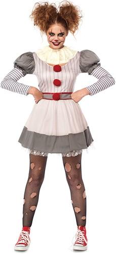 Kostuum Scary Clown Penny voor dames