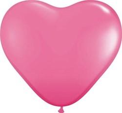 Hartballonnen Pink 25cm 100 stuks