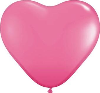 Hartballonnen 25cm 100st. Pink