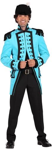 Carnavalsjas Nelson Turquoise Luxe voor heren