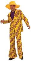 Sixties Kostuum Geel