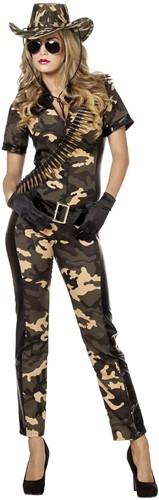 Dames Leger Catsuit Soldate