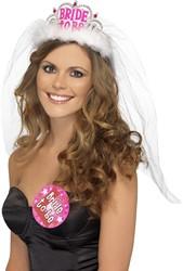 Tiara Bride to Be + Sluier Wit