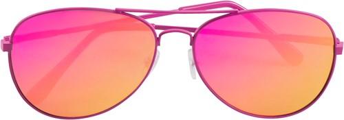 Pilotenbril Spiegelglas Pink