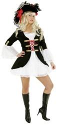 Dameskostuum Piratenbruid de Luxe