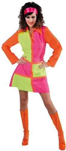 Damesjurkje Sixties Neon