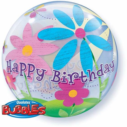 Bubble Happy Birthday Flowers