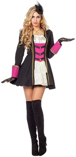 Damesjurk Garde Markiezin Zwart/Pink