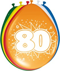 Ballonnen 80jaar 8st
