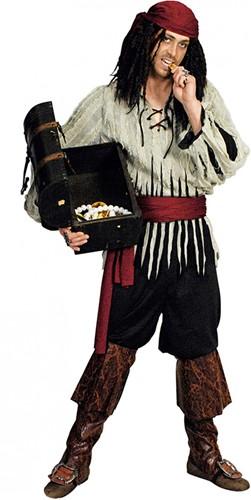 Herenkostuum Lompen Piraat