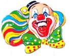 Wanddeco Clown Hoofd
