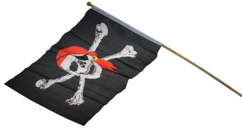 Piratenvlag aan stokje