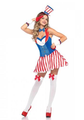 Dameskostuum Amerikaanse Yankee Doodle Darling