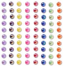 Body Jewel Pearls 6mm Rainbow Kleuren 80st.