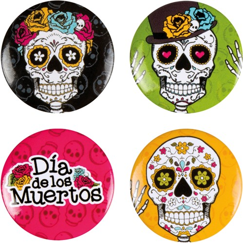 Button Day of the Dead 4st.
