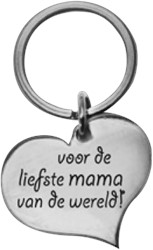 Hart Sleutelhanger Mama