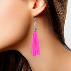 Oorbellen Sliertjes Neon Pink