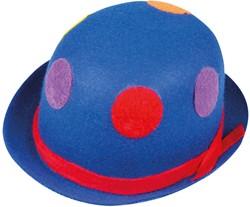 Clowns Bolhoed Blauw met Stippen (Vilt)