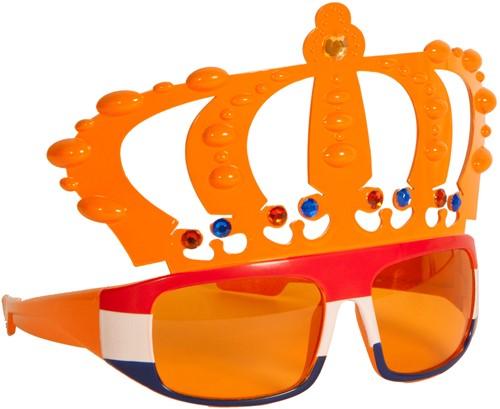 Bril Kroon Oranje met Rood/Wit/Blauw
