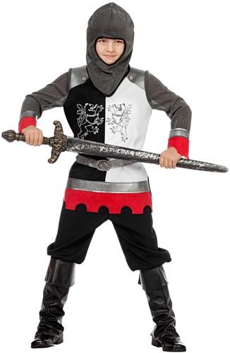 Kostuum Ridder Jongen Zwart-Wit