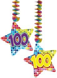 Hangdecoratie 100 Jaar Blocks (2st.)