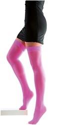 Netpanty Overknee Neon Pink