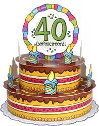 3D Taart 40 Gefeliciteerd!