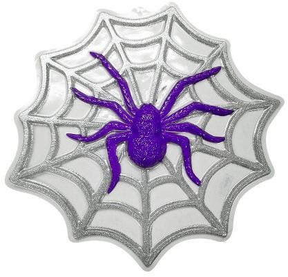 Wanddeco Spin in Web Glitter (48x48cm)