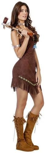 Dameskostuum Indiaanse met veertjes