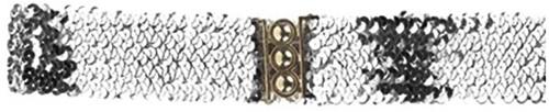 Pailletten Ceintuur / Riem Zilver-2