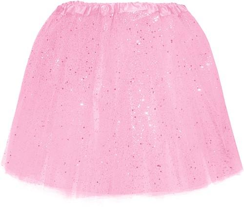 Tule Rokje Roze met Glitter