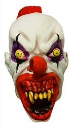Creepy Clown Kuifje Masker (latex)