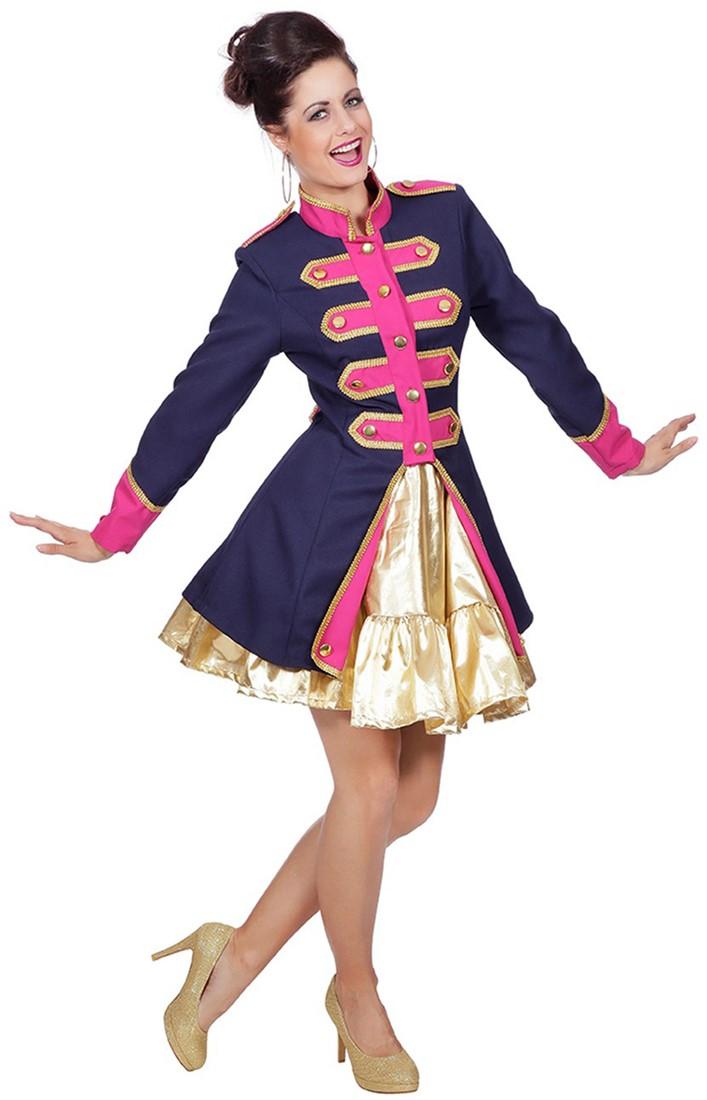 Carnavalskleding Tirol Dames.Dames Carnavalsjas Uniform Donkerblauw Fuchsia
