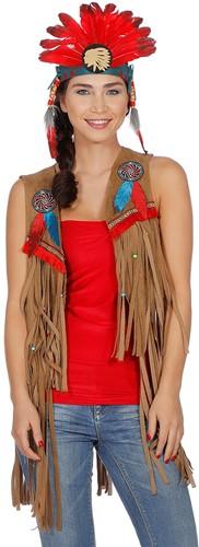 Dames Vestje Indiaanse / Hippie