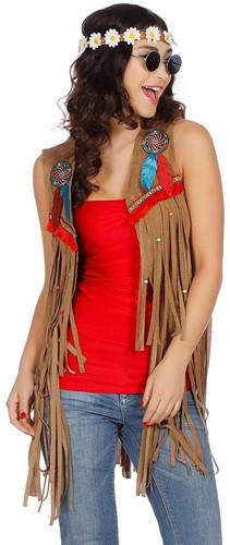 Dames Vestje Indiaanse / Hippie -2