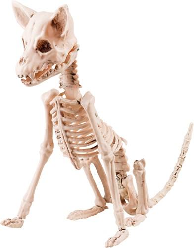Halloween Decoratie Hondenskelet Zittend (48cm)